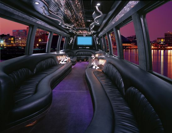 Trying Out a Windowless Limo